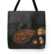 Still Life With Bread And Onions Tote Bag
