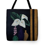 Still Life With Calla Lilies Tote Bag