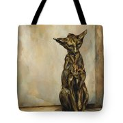 Still Life With Cat Sculpture Tote Bag