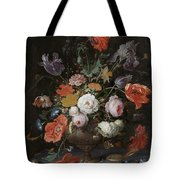 Still Life With Flowers And Watch Tote Bag
