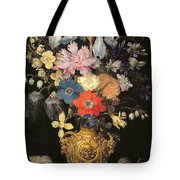 Still Life With Flowers, C.1604 Tote Bag by Georg Flegel