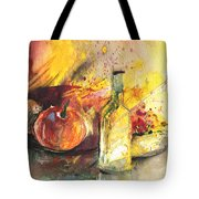 Still Life With Fruits And Flowers And Bottle Tote Bag