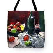 Still Life With Fruits And Wine Tote Bag