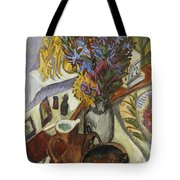 Still Life With Jug And African Bowl Tote Bag by Ernst Ludwig Kirchner