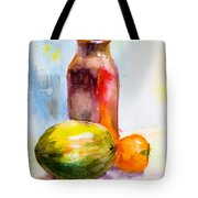 Still Life With Jug And Fruit Tote Bag