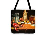 Still Life With Pots Fruit Etc. Tote Bag