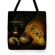 Still Life With Pumpkin And Onions Tote Bag