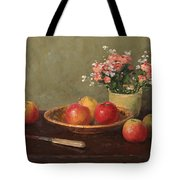 Still Life With Red Apples Tote Bag