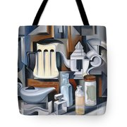 Still Life With Teapots Tote Bag by Catherine Abel