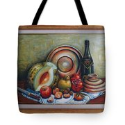 Still Life With Water Melon Tote Bag