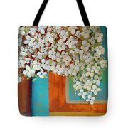 Still Life With White Flowers Tote Bag