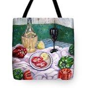 Wine And Capsicum Tote Bag