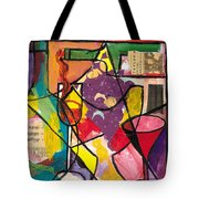 Still Life With Wine And Fruit B Tote Bag by Everett Spruill
