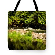 Still Pool And Fast River Tote Bag