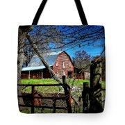 Still Useful Rustic Red Barn Art Oconee County Tote Bag