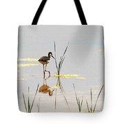 Stilt Chick Exploring Its New World Tote Bag