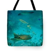 Stingray And Fish Tote Bag