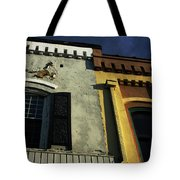 Stitched Buildings Tote Bag