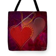 Stitched Hearts Tote Bag