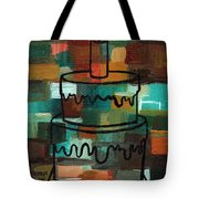 Stl250 Birthday Cake Earth Tones Abstract Tote Bag