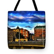 Stockholm In Color Tote Bag