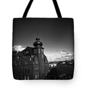 Stockholm In Dark Black And White Tote Bag