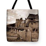 Stokesay Castle Sepia Tote Bag
