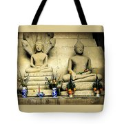 Stone And Flowers Tote Bag
