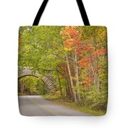 Stone Arch Bridge In Acadia National Park Tote Bag