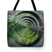 Stone Arch Bridge Over Troubled Waters - 1st Place Winner Faa Optical Illusions 2-26-2012 Tote Bag