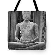 Stone Buddha Tote Bag by Adam Romanowicz