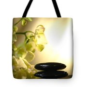 Stone Cairn And Orchids Tote Bag