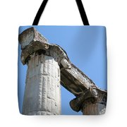 Stone Carved Columns At The Temple Of Aphrodite  Tote Bag