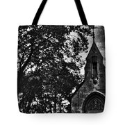 Stone Church In Black And White Tote Bag