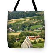 Stone Church In Green Nature Tote Bag