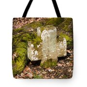 Stone Cross In The Forest Tote Bag