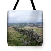Old Dry Stacked Stone Fence Of Scotland Tote Bag