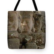 Stone Figures Cambodia Tote Bag