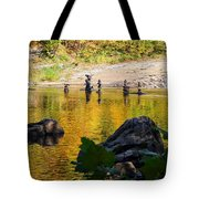 Stone Gods Of The River Tote Bag