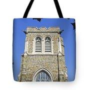Stone Gothic Church Tote Bag