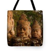 Stone Heads Tote Bag