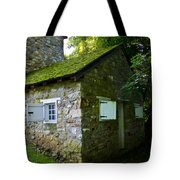 Stone House With Mossy Roof Tote Bag