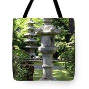 Stone Pagoda And Lantern Tote Bag