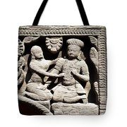 Stone Relief In Patan's Durbar Square Tote Bag