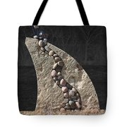 Stone Sculpture Before The Forest Tote Bag