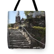 Stone Steps And Saint Peters Church At Harpers Ferry Tote Bag