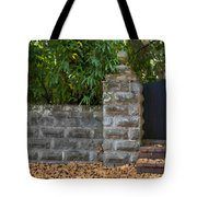 Stone Wall And Gate Tote Bag
