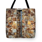 Stone Wall-small Window Tote Bag