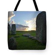 Stonehenge At Dusk Tote Bag