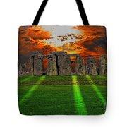 Stonehenge At Solstice Tote Bag by Skye Ryan-Evans